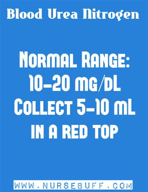 blood test urea normal range laboratory values and interpretation a s ultimate guide nursebuff