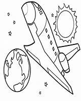 Space Shuttle Coloring Orbit Reach sketch template