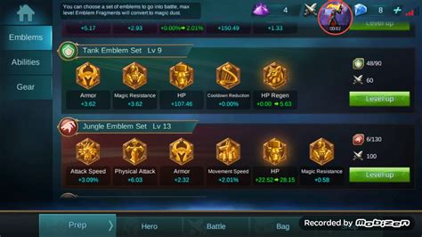 Mobile Legends Emblems Level 1-23