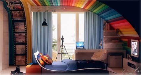 rainbow themed kids room home design garden architecture blog magazine