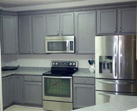 federal grey lightly distressed  rustoleum cabinet