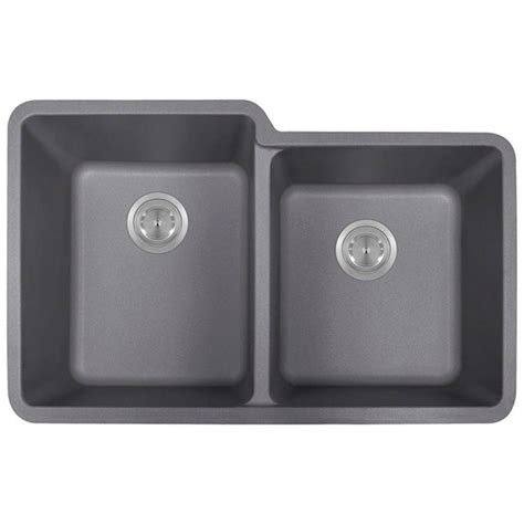 composite kitchen sinks undermount polaris sinks undermount composite 33 in double basin