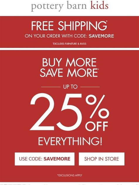 pottery barn free shipping code pottery barn free shipping take up to 25
