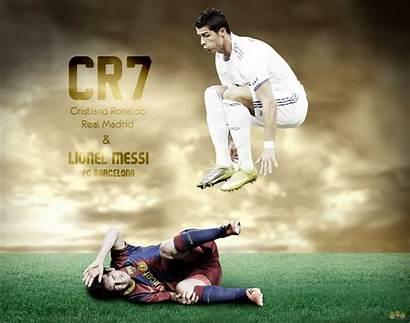 Messi Ronaldo Cristiano Golden Cr7 Lm10 Ball