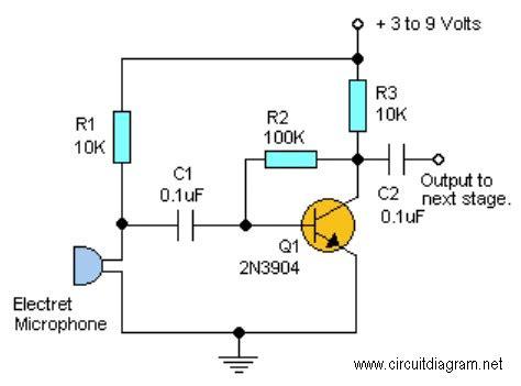 Simple Audio Pre Amplifier Schematic Design