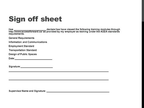 Training Completion Sign Off Sheet Template by Training Sign In Sheet Quick Links Staff Training Sign Off