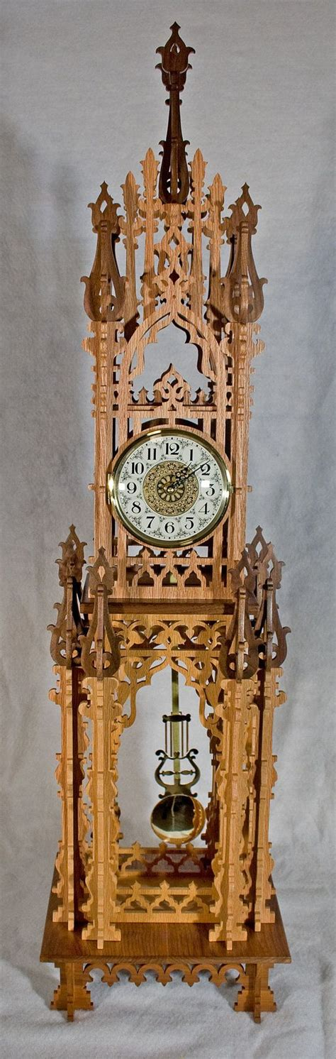 decorative fretwork clock  westminster chime wooden