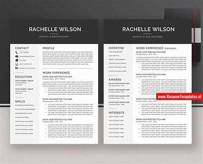 Resume Cv Word Template Ms Simple Professional