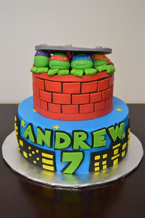 teenage mutant ninja turtles cake  cakes pinterest