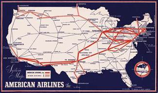 American Airlines Flight Route Map
