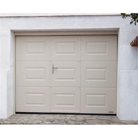 porte sectionnelle avec portillon pas cher prixporte sectionnelle