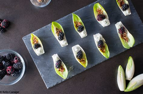 keto endive blackberry blue cheese appetizers keto canape