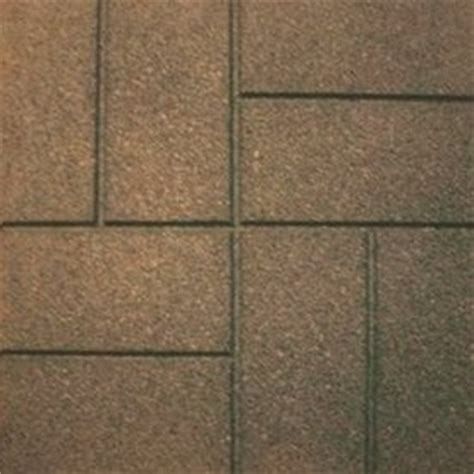 shop garden plus 16 in l x16 in w rubber brown paver at