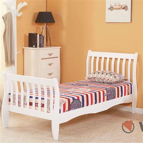 Boy Bedroom Furniture by 3ft Single Wooden Sleigh Bed Frame Pine Bedroom Furniture