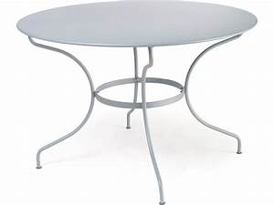 Table Ronde Metal : table ronde op ra de fermob gris m tal ~ Melissatoandfro.com Idées de Décoration