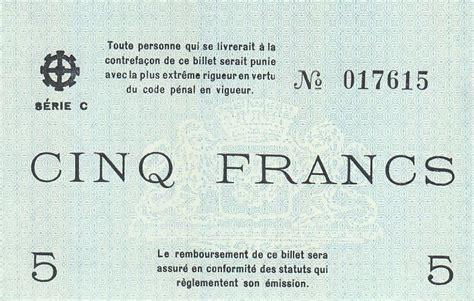 chambre de commerce mulhouse billet 5 francs mulhouse chambre de commerce série