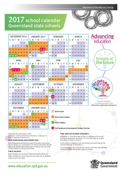 qld state school calendar choices family day care brisbane