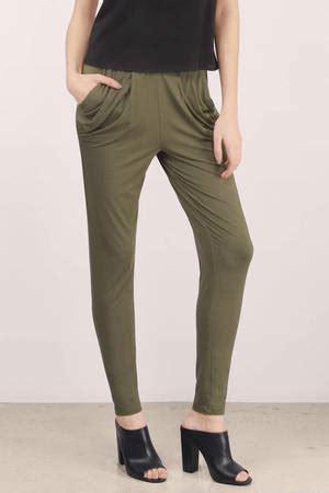 Olive Pants - Green Pants - Jogger Pants - $38.00