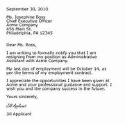 25 Best Ideas About Resignation Letter On Pinterest Job 2 Letter Business Proposal Templated Simple 2 Weeks Notice Letter Search Results Calendar 2015 One Week Notice Resignation Letter Sample Sample Letter