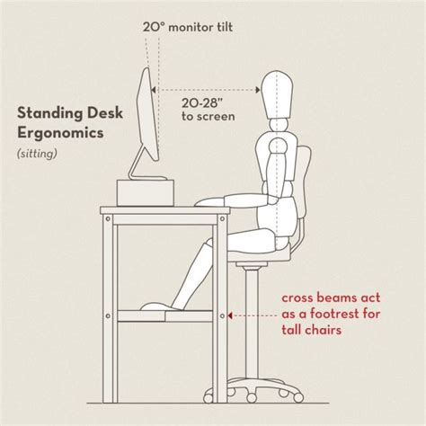 ergonomic sitting at desk get things done while standing 10 diy standing desk