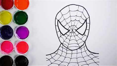 Dibuja y Colorea Spiderman de Arco Iris Dibujos Para