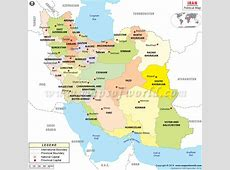 Political Map of Iran Iran Provinces Map