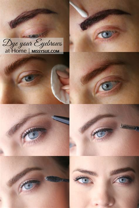 diy summer brows womens world dye eyebrows diy hair