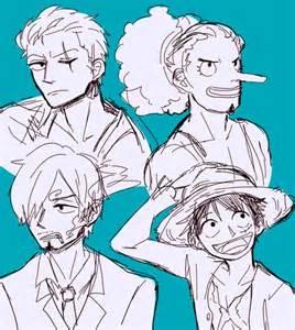Luffy Zoro Sanji and Usopp