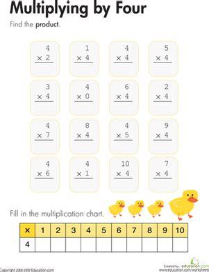 multiplying   worksheet educationcom