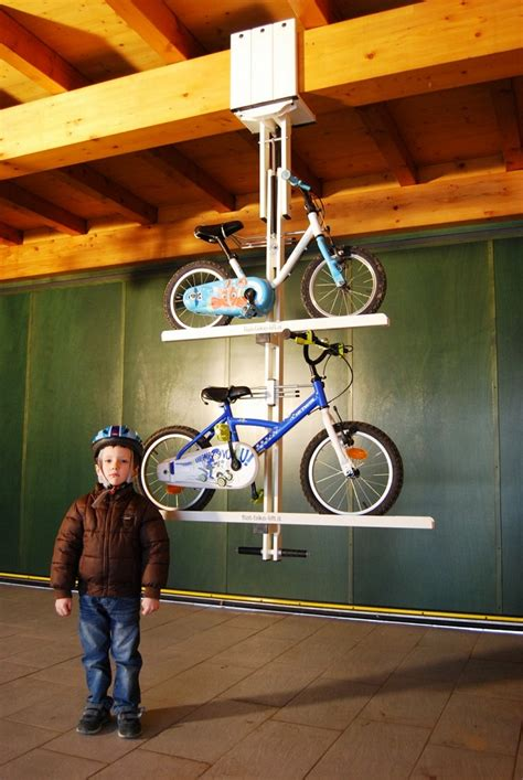 Ceiling Bike Rack Flat by Flat Bike Lift Ingenious Way To Park Your Bicycle On The