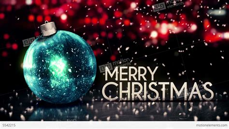 blue silver merry christmas bokeh beautiful 3d stock animation 5542215