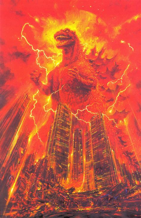 noriyoshi ohrais original godzilla posters  freaking