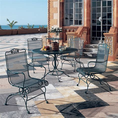 briarwood outdoor wrought iron set by woodard family leisure