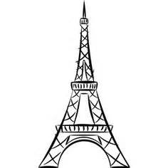pin   art  images eiffel tower drawing