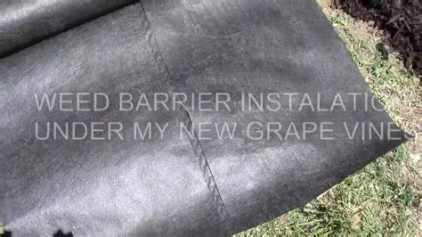 weed barrier fabric   install    youtube