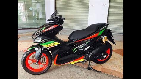 Modifikasi Aerox 155 Merah by Modifikasi Motor Matic Kece Yamaha Aerox Nvx 155