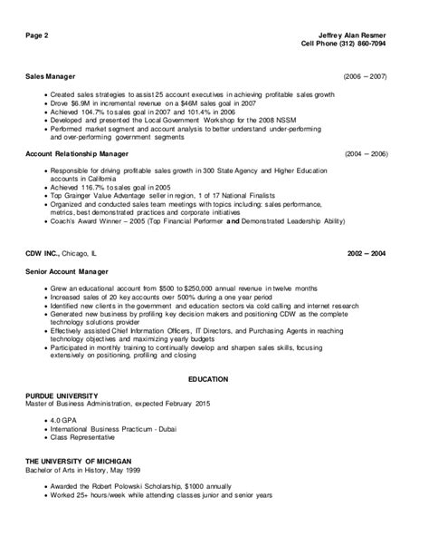 Cell Phone Sales Manager Resume by Resmer Resume