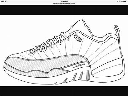 Nike Coloring Pages Shoes Drawing Air Sneaker