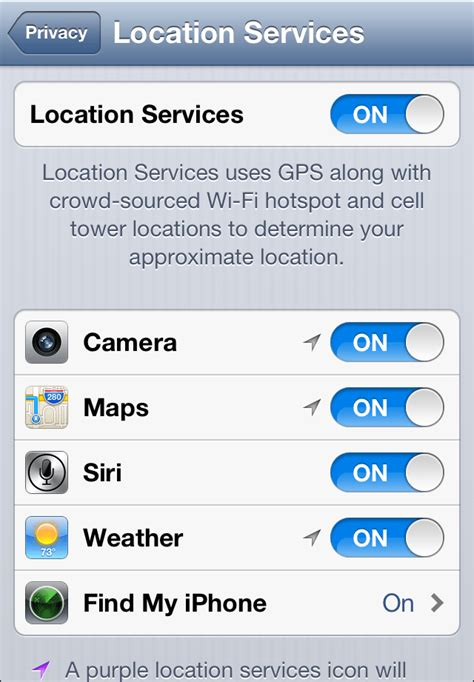 how to turn location services on iphone turn location in settings