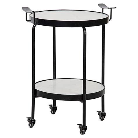 black metal end table berend industrial black metal wheeled round side table