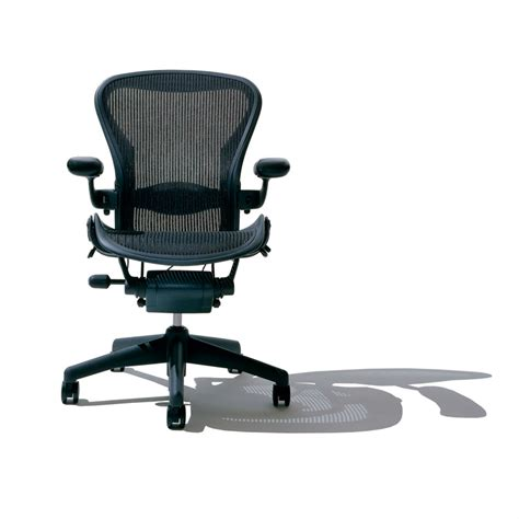 leave space for aeron chair adjustment for comfortable