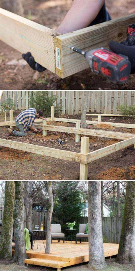 top  simple   budget ideas  building  floating deck