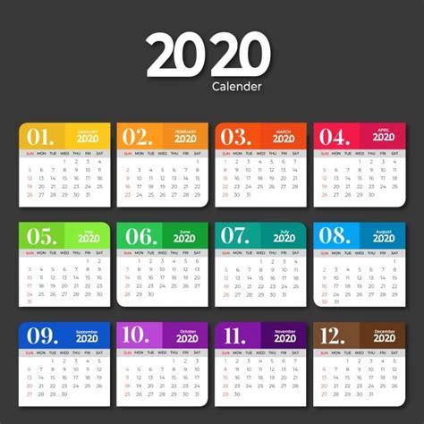 calendar template design  solid colors