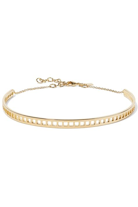 Arme De L'amour Goldplated Choker In Metallic  Save 74