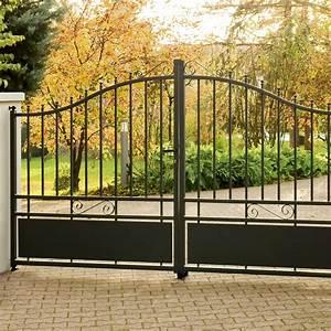 Fixation Portail Battant : portail battant aluminium corfou gris anthracite ~ Premium-room.com Idées de Décoration