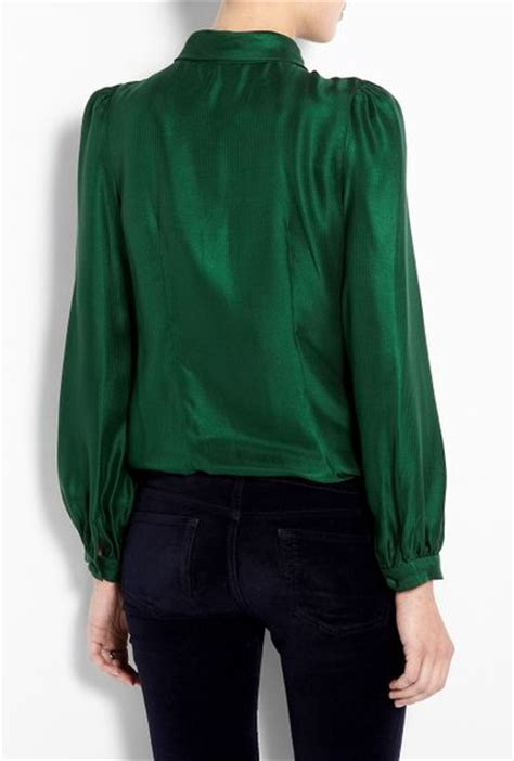 emerald green blouse milly emerald green charlyee bow blouse in green emerald