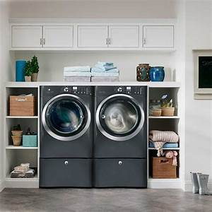 Pretty, Hansgrohe, Shower, In, Laundry, Room, Transitional, With, Hair, Dryer, Storage, Next, To, Hidden