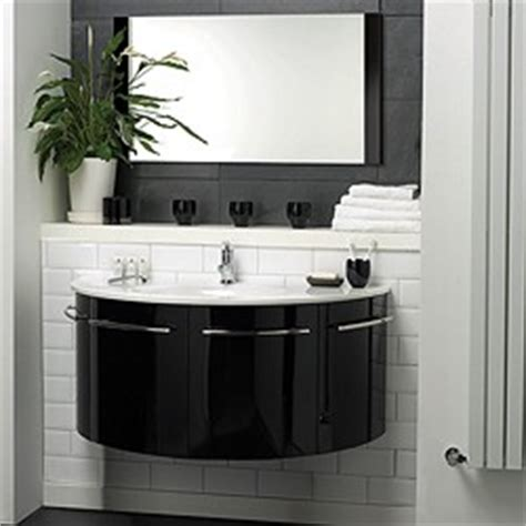 Hudson Reed Moon > Wall Hung Furniture Set (High Gloss Black).