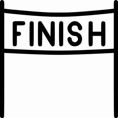 Finish Line Race Icon Svg Racing Start