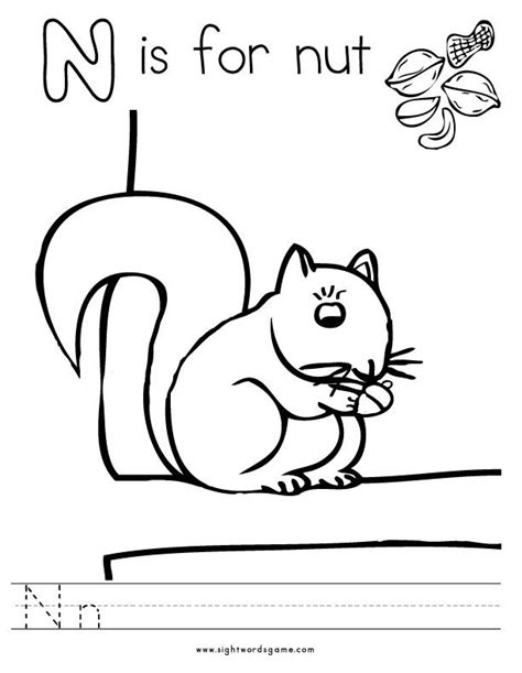 letter n worksheets and coloring pages letter n preschool coloring pages coloring home